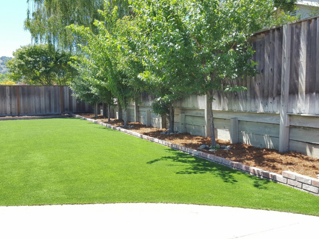 Installing Artificial Grass Nolic, Arizona Backyard Deck ... on Artificial Turf Backyard Ideas id=20117